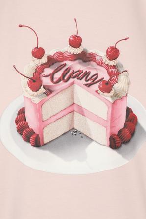 Cake Graphic T Shirt in Pink ALEXANDER WANG