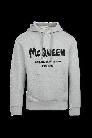 Compact Cotton Sweatshirt in Grey ALEXANDER MCQUEEN