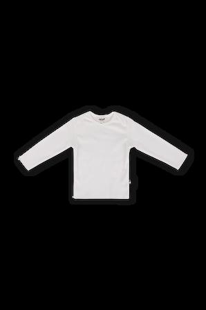 גילאי 3-24 חודשים חולצה ארוכה בלבן OEUF NYC