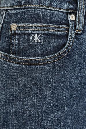 High Rise Denim Mini Skirt in Blue Wash CALVIN KLEIN