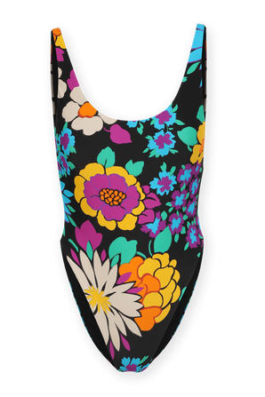 One Piece Swimsuit With Floral Print SAINT LAURENT