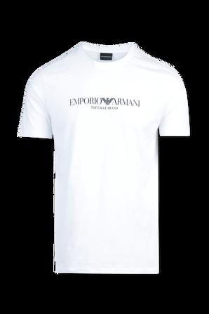 Iconic Logo T-Shirt in White EMPORIO ARMANI