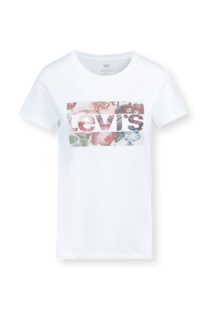 Floral Logo Tee in White LEVI`S