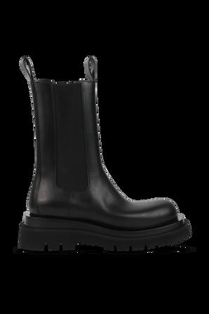 BV LUG Leather Boots in Black BOTTEGA VENETA