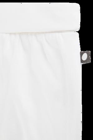 מכנסי הרמון לבנים עם אמרות מקופלות- יוניסקס 3-6 חודשים OEUF NYC