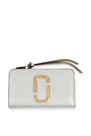 The Snapshot Compact Wallet in Platinum MARC JACOBS