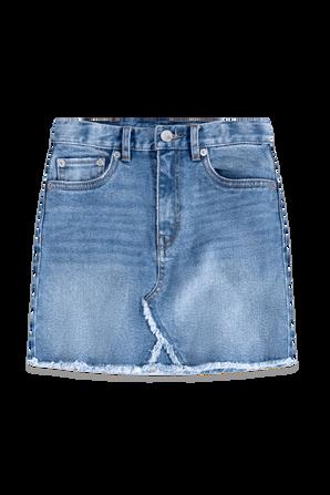 גילאי 7-16 חצאית דנים בגזרה גבוהה בגוון בהיר LEVI`S KIDS