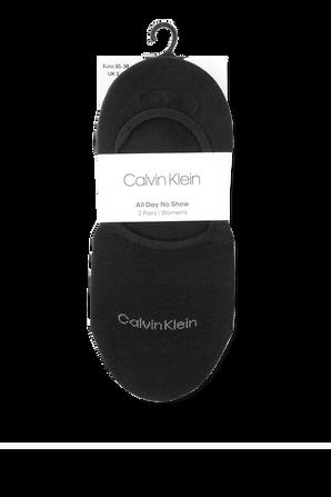2Pack Sneaker Liner Socks in Black CALVIN KLEIN