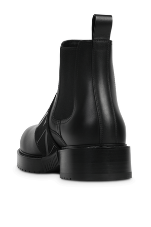Side Strap Boots in Black VALENTINO