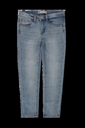 גילאי 4-6 מכנסי סופר סקיני 710 בשטיפה כחולה LEVI`S KIDS