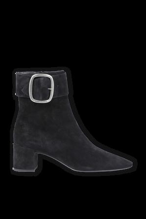 Joplin Ankle Boot in Black Suede SAINT LAURENT