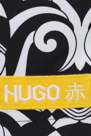 Hugo Boss x Jun Matsui Swim Shorts With Collection Artwork HUGO