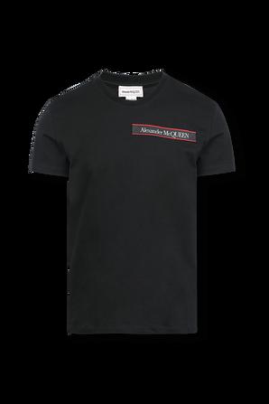 Organic Light Jersey Shirt in Black ALEXANDER MCQUEEN