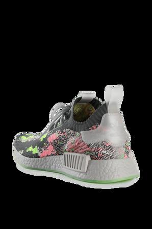 NMD R1 Primeknit Shoes in Grey Multi ADIDAS ORIGINALS