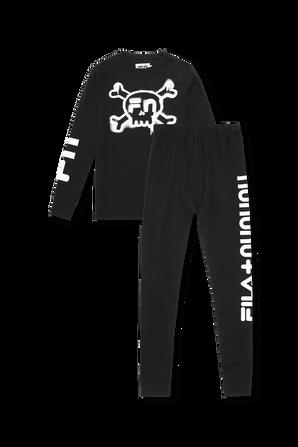 NF024B BLACK SKULL LOUNGEWEAR FILA NUNUNU