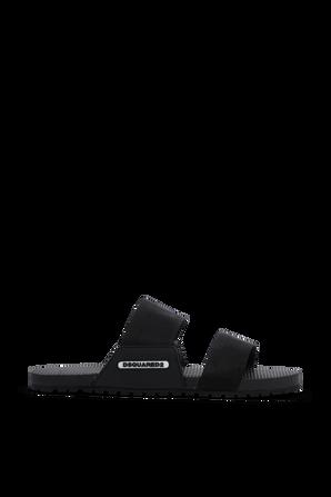 DSQUARED Slide Sandals in Black DSQUARED2