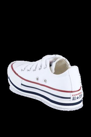 מידות 27-35 נעלי אולסטאר בגזרה נמוכה עם סוליה גבוהה בלבן CONVERSE