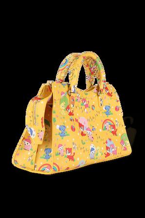 Neo Classic Top Handle Bag in Cartoon Pet Print BALENCIAGA