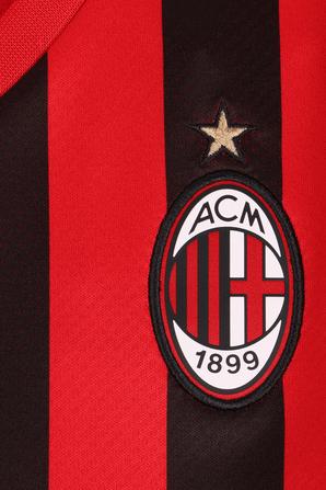 גילאי 6-14 חולצת כדורגל מילאן בית בגווני אדום ושחור PUMA KIDS