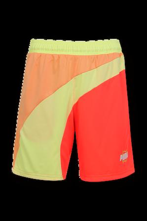 Basketball Shorts in Yellow and Orange PUMA