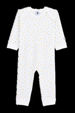 גילאי NB-12 חודשים אוברול שינה בפרינט משולשים PETIT BATEAU