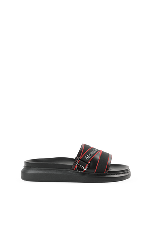 Straps Sandals in Black and Red ALEXANDER MCQUEEN