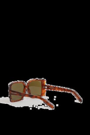 Sqare Sunglasses in Brown SAINT LAURENT