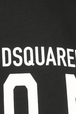 Icon Print Classic Tshirt in Black DSQUARED2