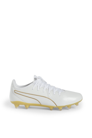 King Pro FG Football Shoes in White PUMA