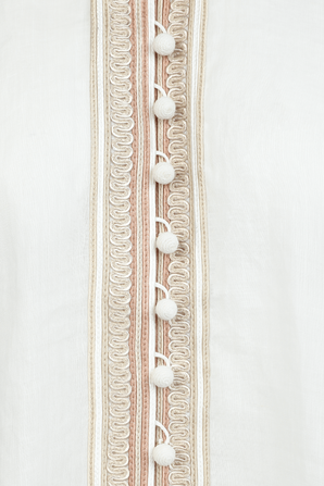 Cassia Corded Blouse in Ivory ZIMMERMANN