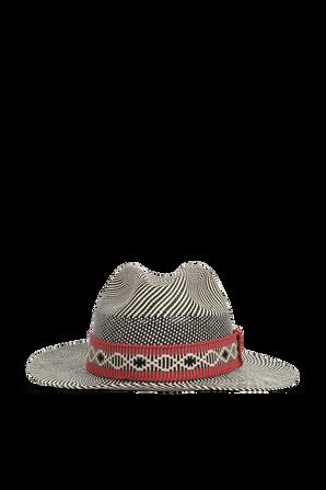 Straw Hat in Black and Red YOSUZI
