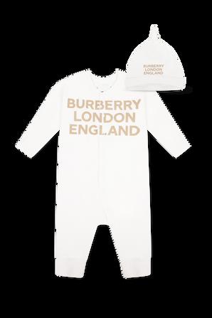 גילאי 1-12 חודשים סט אוברול וכובע BURBERRY