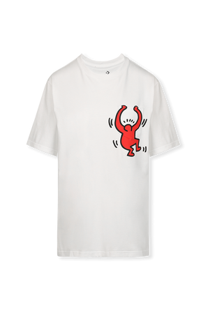 Converse X Keith Haring Graphic Pocket T-Shirt in White CONVERSE