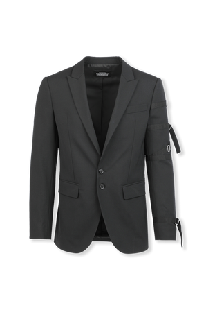 Worsted Stretch Wool Blazer in Black DSQUARED2