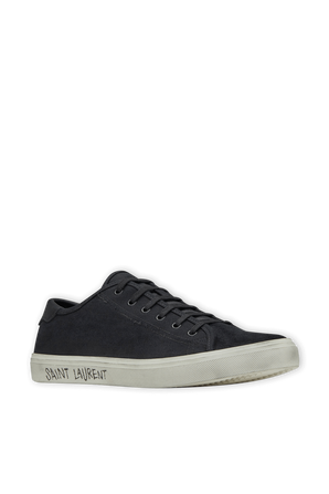 Malibu Sneakers in Black Canvas and Leather SAINT LAURENT