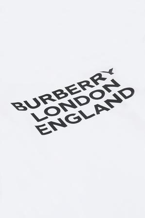 גילאי 3-14 חולצת לוגו בלבן BURBERRY