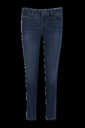מכנסי ג'ינס 711 סקיני בגוון אינדיגו כהה LEVI`S