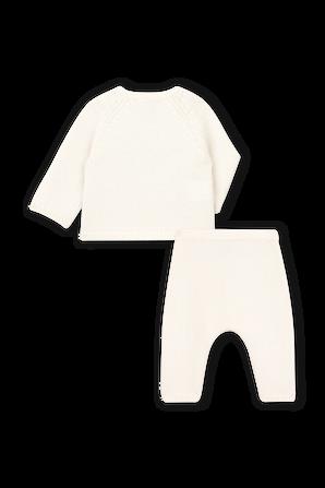 גילאי NB-18 חודשים סט סריג  ארוך בלבן מרשמלו  PETIT BATEAU