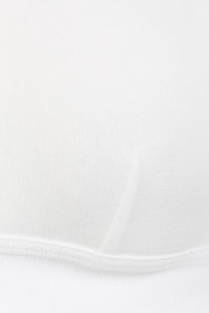 Hadlee Triangle Bra in White SKIN
