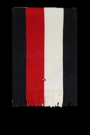 צעיף לוגו סרוג בצבעי הדגל TOMMY HILFIGER