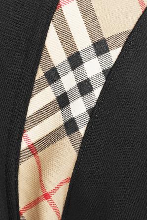 Checker Zip Hoodie in Black BURBERRY