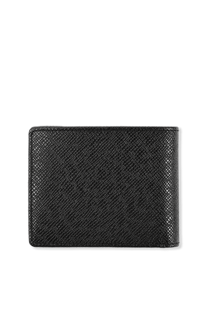 Signature Grainy Leather 6 cc Wallet In Black BOSS