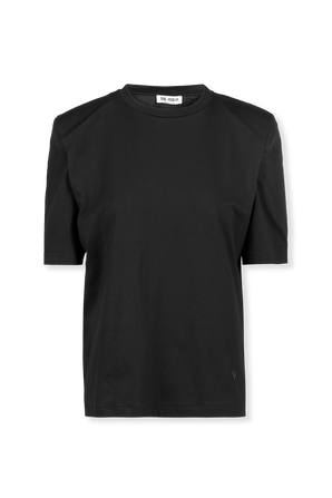 Bella T-Shirt With Shoulder Pads in Black THE ATTICO