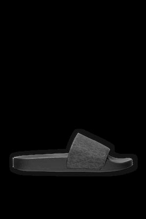 Jake Logo Slide Sandals in Black MICHAEL KORS