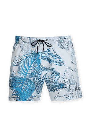 Springfish Boardshorts in White and Blue BOSS