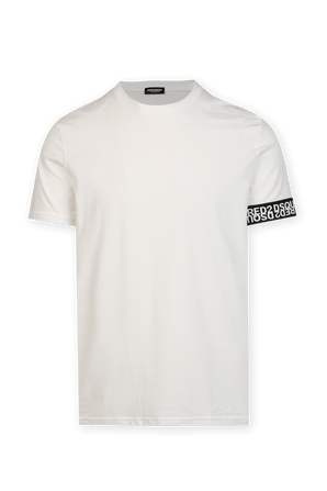 Basic Number Print T Shirt in White DSQUARED2
