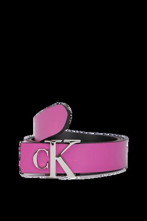 30mm Logo leather Belt in Purple CALVIN KLEIN