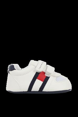 מידות 17-19 נעלי צעד ראשון בעיטור לוגו TOMMY HILFIGER KIDS