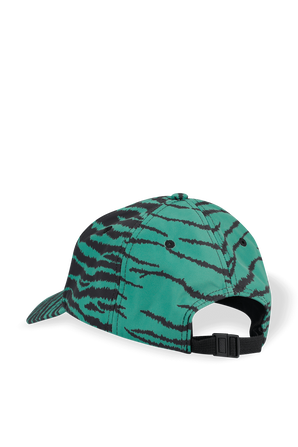 Tiger Print Baseball Cap in Green KENZO