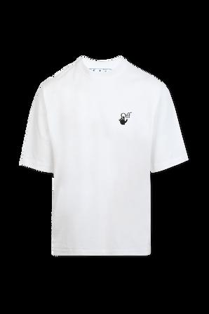 חולצת טי לבנה עם לוגו OFF WHITE